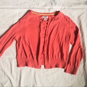 Old Navy Coral Cropped Cardigan